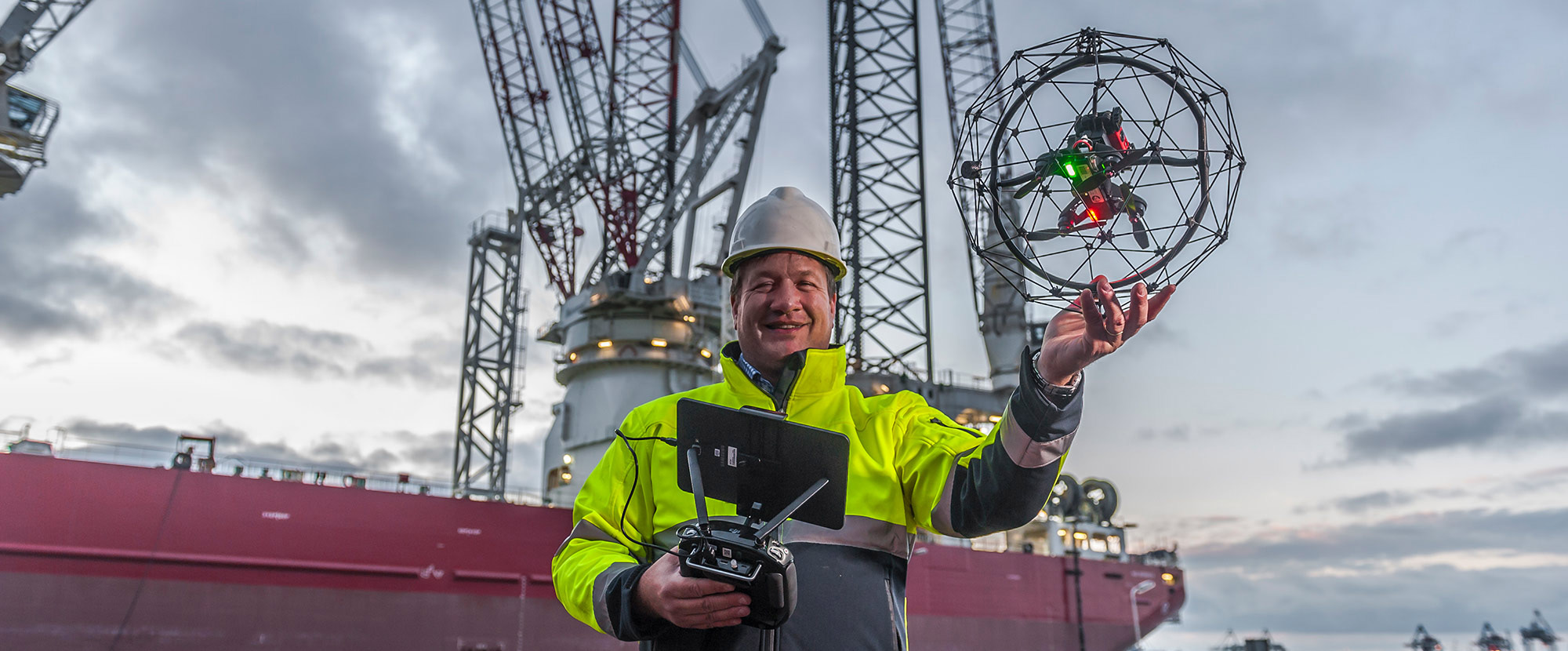 David Knukkel and drone